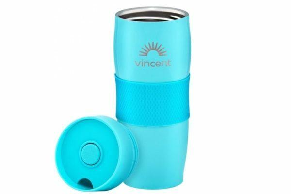 Кружка-термос 0,35 л нержавеющая сталь Vincent Electric Blue