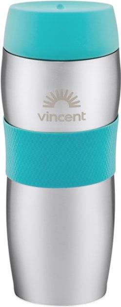Термокружка 450 мл с силиконовой вставкой Vincent Ultra Green VC-1527UG купить в интернет магазине