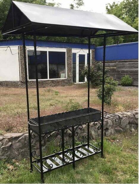 Мангал с крышей Металл-завод 9 шампуров МК9-4д купить недорого онлайн