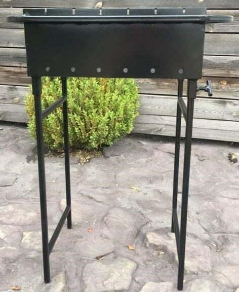 Мангал на 6 шампуров со съемными ножками Металл-завод М6-2н доступная цена