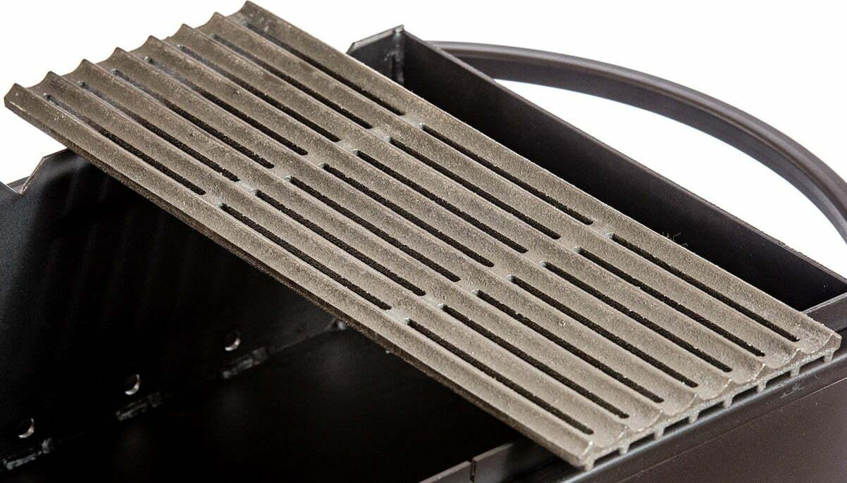 Решётка гриль чугунная Металл-завод 40х15х2 см РГ3 лучшая цена в Украине