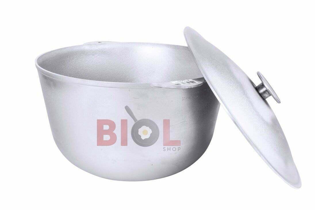Литой казан алюминиевый с крышкой Биол 2 л К0200