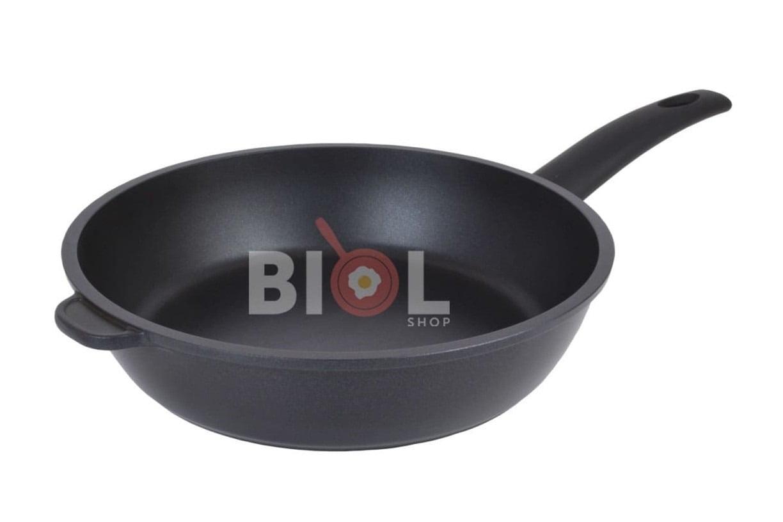 7.Алюминиевая сковорода с антипригарным покрытием Биол LUX 28 см 2817П