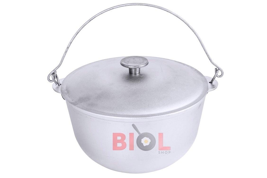 Казан литой алюминиевый туристический Биол 10 л