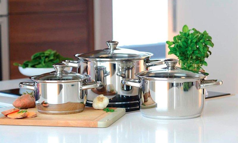 Набор нержавеющей посуды для любой кухни