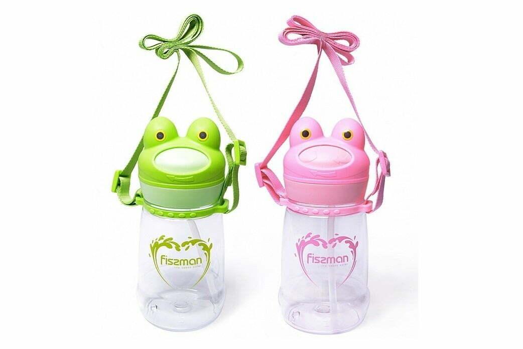 1. Бутылка для воды пластиковая с соломинкой Fissman 480 мл 6854