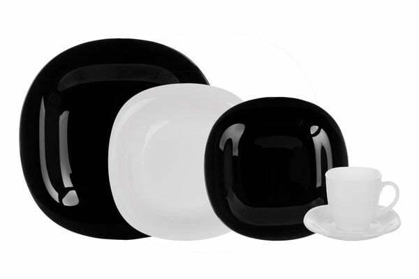 3. Столовый сервиз Luminarc Carine Black&White 30 предметов N1500