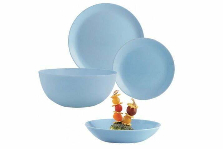 4. Сервиз столовый Diwali Light Blue из 19 предметов Luminarc P2961