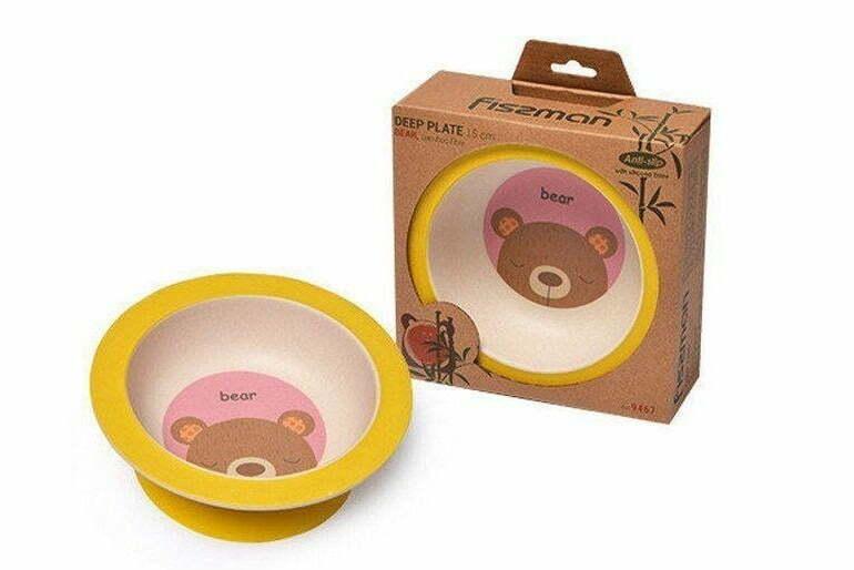5. Тарелка детская глубокая Медвежонок бамбуковое волокно 9467