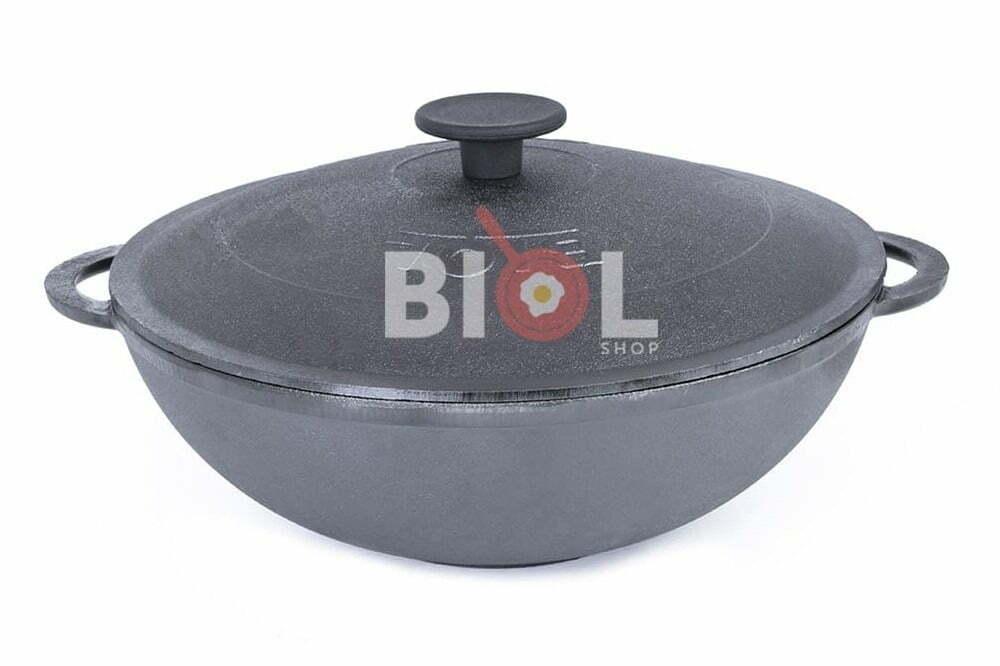 6. ВОК сковорода чугунная с крышкой 4 л Биол 0528