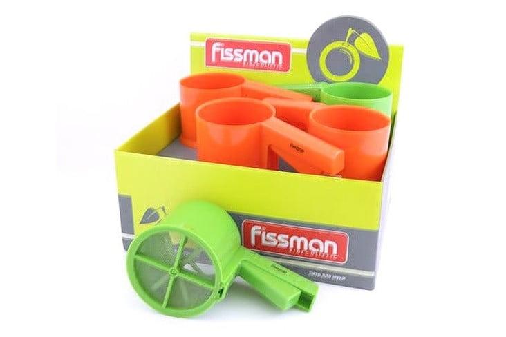 7. Кружка-сито кухонное пластиковое для муки Fissman 10х9 см PR-7283.SF