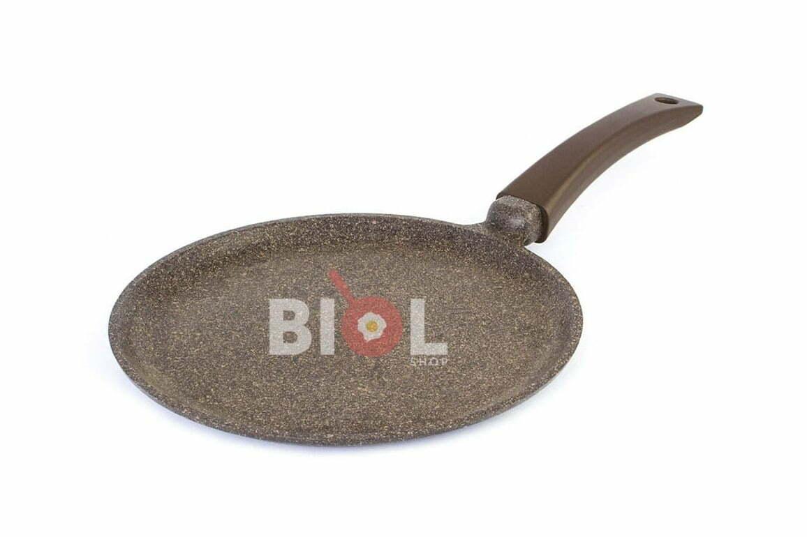 4. Сковорода блинная индукционная 26 см антипригарная Биол