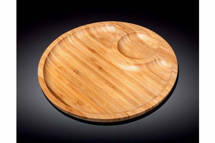 2. Блюдо бамбуковое Wilmax Bamboo 30,5 см
